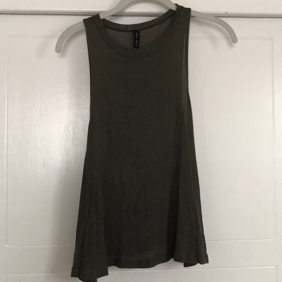 Final Touch Tops - Final Touch Olive Green Halter